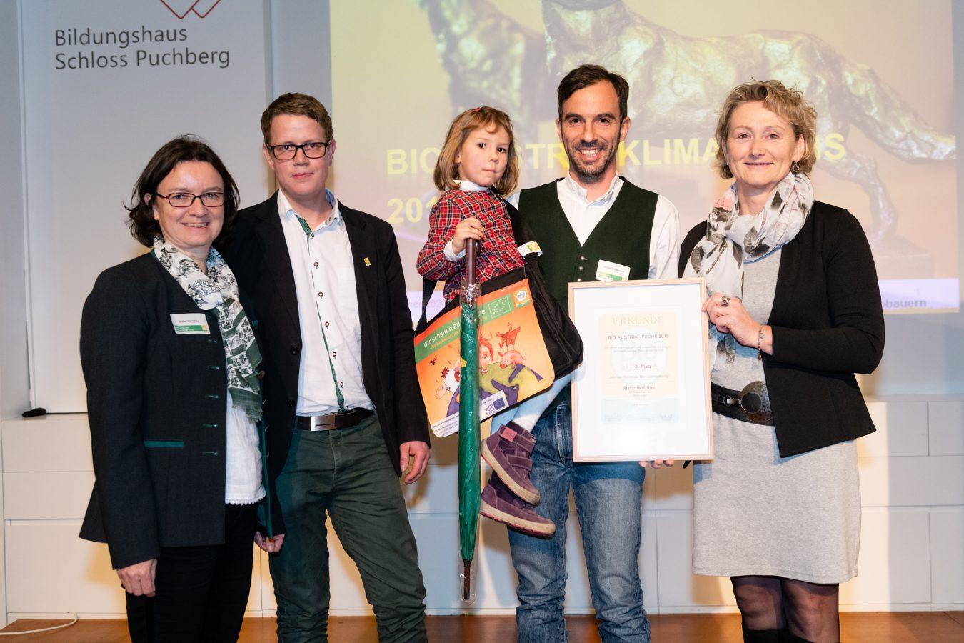2. Platz beim Innovationspreis Bio-Fuchs